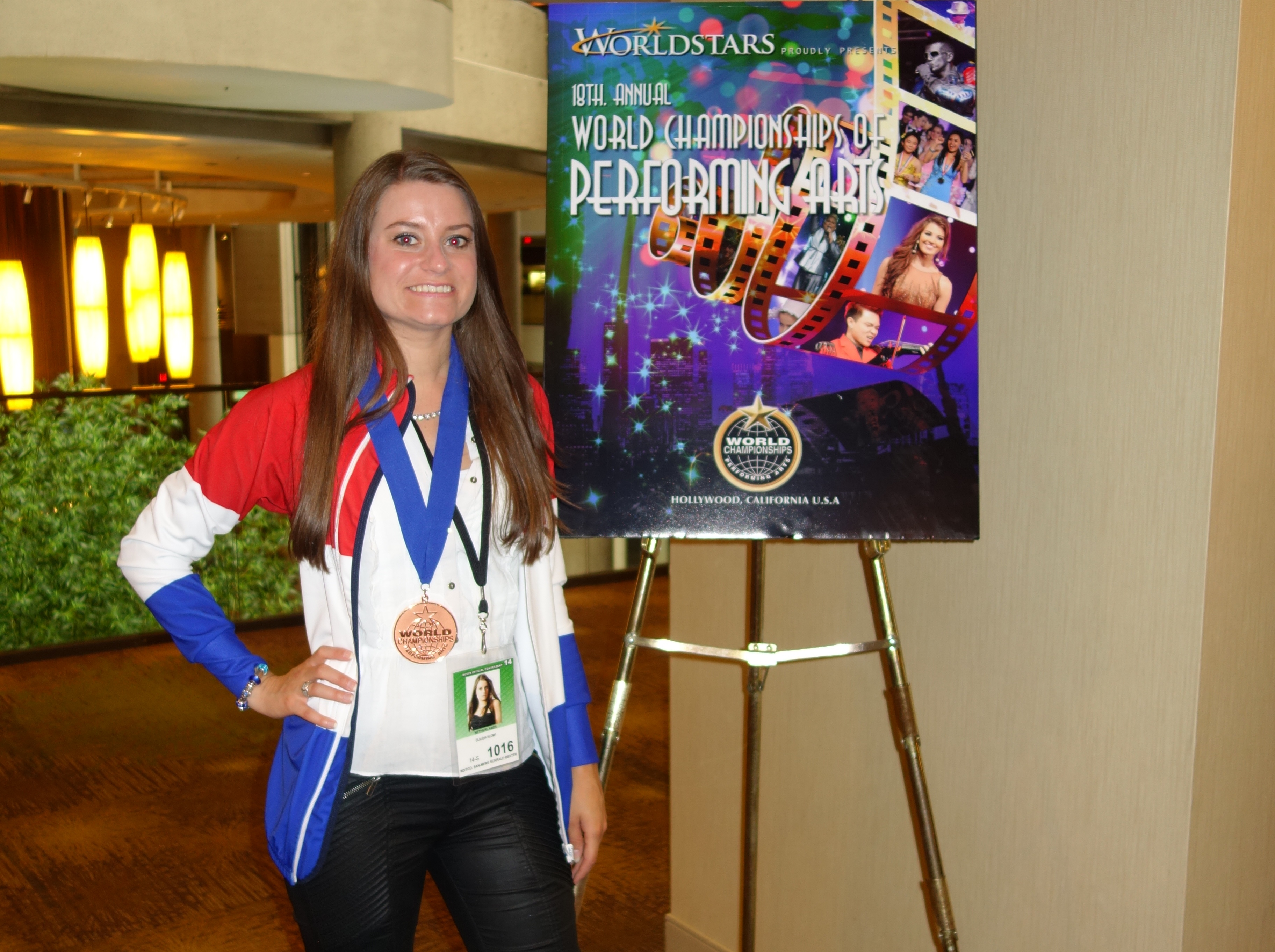 Bronze medal winner of acting classical at the World Championships of Performing Arts in Hollywood